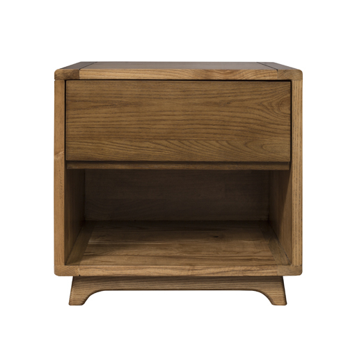 唯景 木蜡油 北欧全实木床头柜  编号:V203