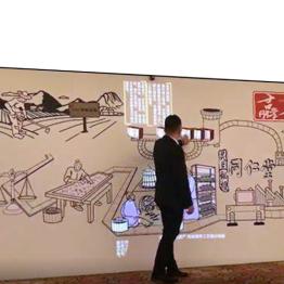 Magic wall interactive projection